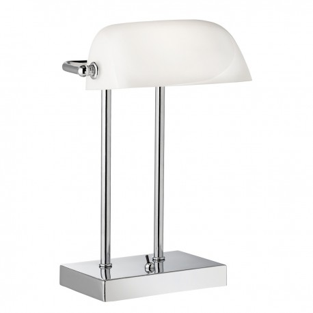 Bankers Lamp With Glass Shade
