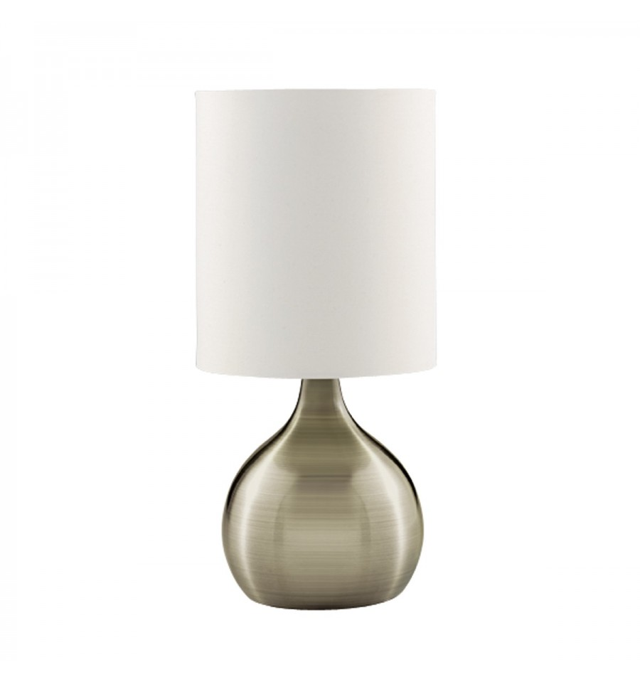 Touch Table Lamp Base White Drum Shade Hegarty