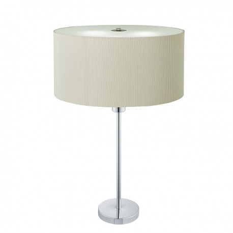Drum Pleat 2 Light Table Lamp, Pleated Shade, Frosted Glass Diffuser