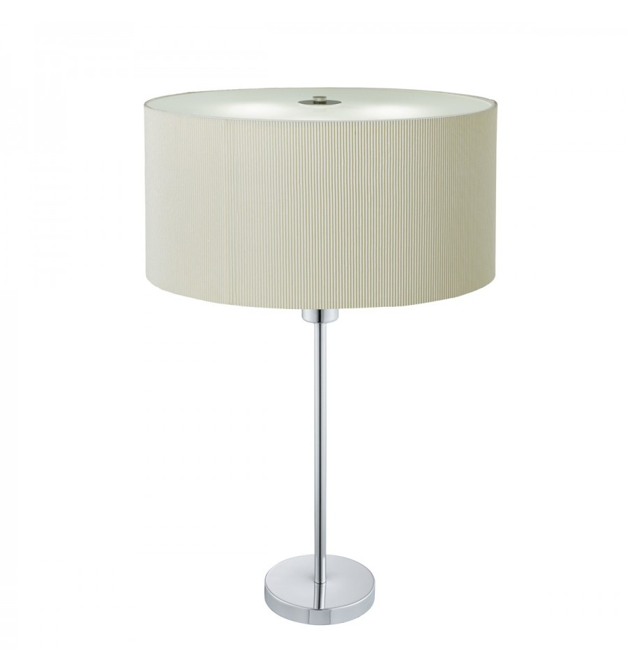 Drum Pleat 2 Light Table Lamp Pleated Shade Frosted Glass Diffuser Loading Zoom