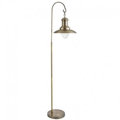 Fisherman Floor Lamp, Clear Glass Shade