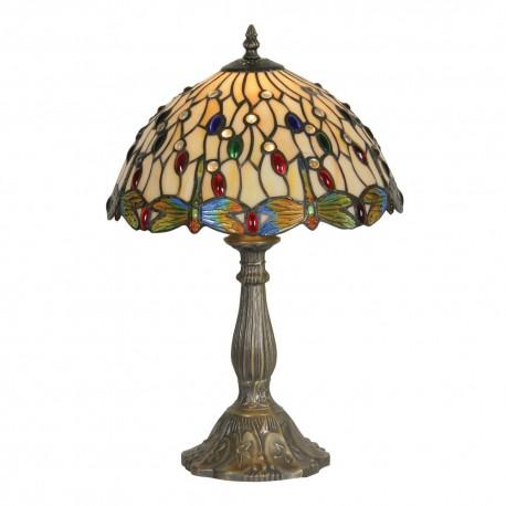 """Dragon Fly II Tiffany Table Lamp 12"""""""