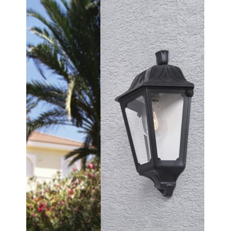 Iesse with Clear Diffuser Half Wall Lantern