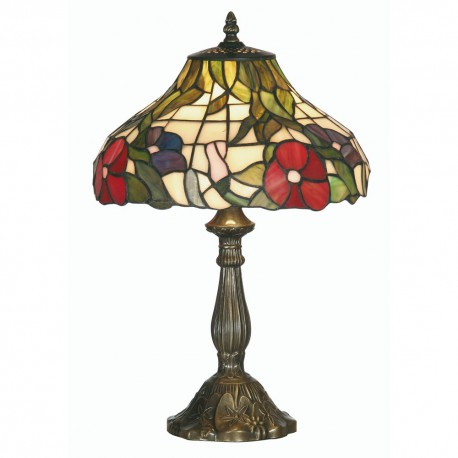 Peonies Tiffany Table Lamp 12""