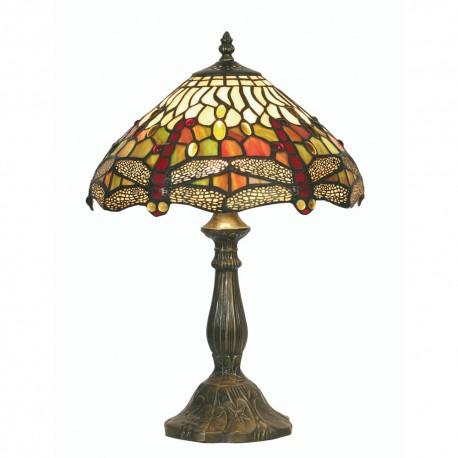 "Dragon Fly Tiffany Table Lamp 12"""