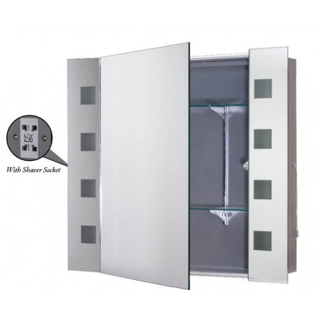 MIR7400 Illuminated Mirror Cabinet with Sockets