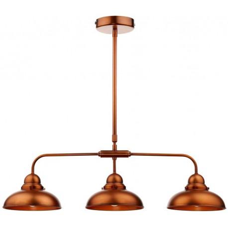 Dynamo 3 Light Copper Bar Pendant