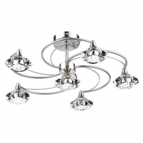 DAR Luther 6 Light Semi Flush