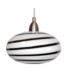Naro One Light Black & White Swirl Pendant