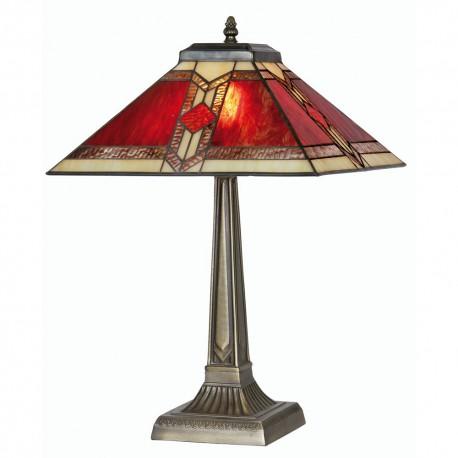"""Aztec Tiffany Table Lamp 14"""""""