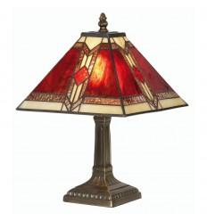 """Aztec Tiffany Table Lamp 9"""""""