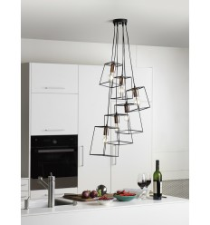 Tower 6 Light Cluster Pendant