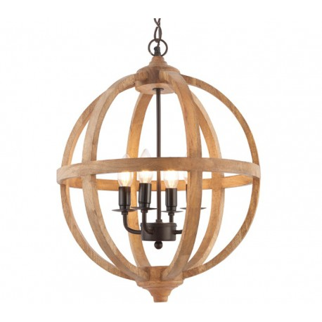 Toba Mango Wood 4 Light Pendant