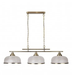 Bistro II 3 Light Industrial Ceiling Bar Pendant