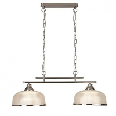 Bistro II 2 Light Industrial Ceiling Bar Pendant