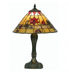Butterfly Tiffany Red Table Lamp