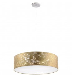 Gold Leaf Diffused 3 Bulb Pendant