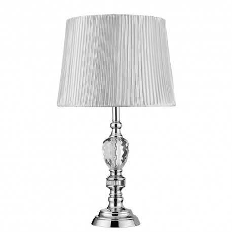 Chrome glass table lamp