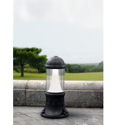 Sauro 500mm LED Black Bollard Post Light