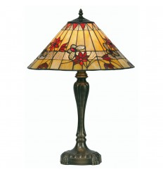 """Butterfly Tiffany Table Lamp Red 17"""""""