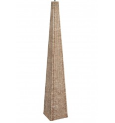 Rattan Pyramid Floor Lamp Base Only