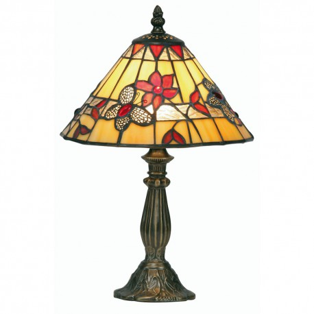 """Butterfly Tiffany Table Lamp Red 9"""""""