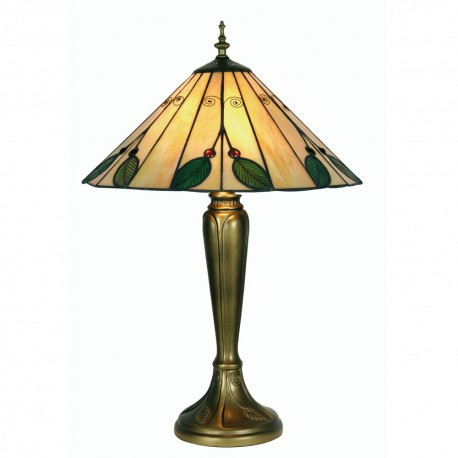 Leaf Tiffany Table Lamp 16""