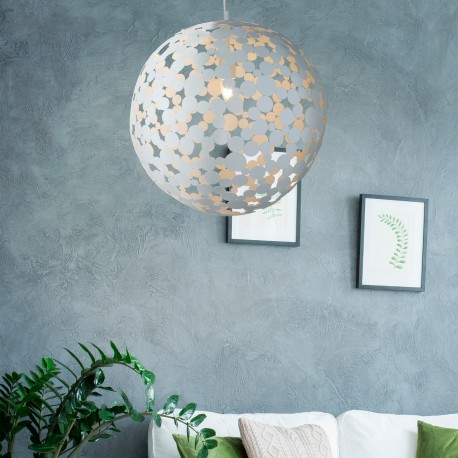 Avalon Metal Sand White Pendant 50cm Diameter