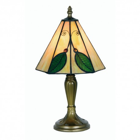Leaf Tiffany Table Lamp 8""