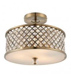 Hudson 3 Light Semi-Flush Pendant