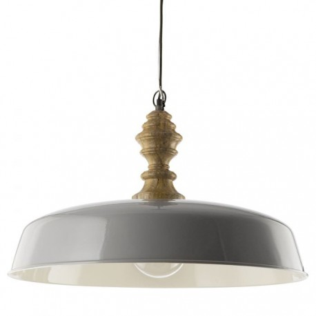 Vadna Grey & Wood Pendant