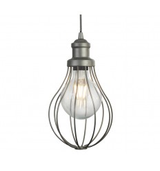 Balloon Cage 1 Light Pendant in Pewter