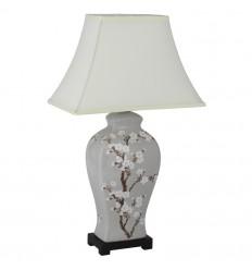 Blossom Pattern Ceramic Lamp