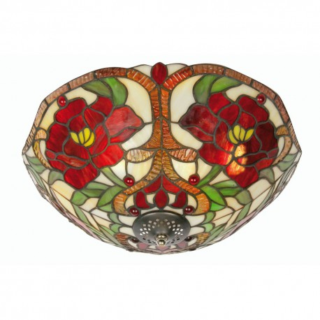Rose Tiffany Reverse Uplighter Fitting