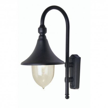 Trumpet Wall Lantern Black